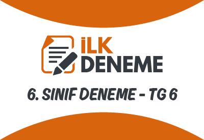 6.Sınıf Türkiye Geneli Online Deneme Sınavı 6