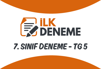 7.Sınıf Türkiye Geneli Online Deneme Sınavı 5