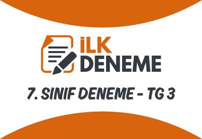 7. Sınıf Türkiye Geneli Online Deneme Sınavı 3