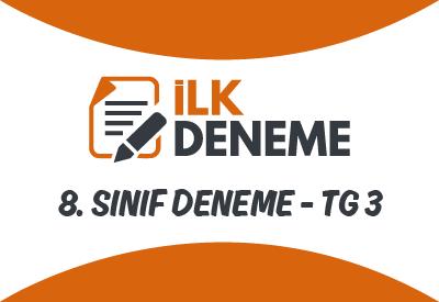 8. Sınıf Türkiye Geneli Online Deneme Sınavı 3
