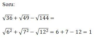 Kareköklü Sayılar - Kareköklü Sayılarda Bölme Çarpma Toplama ve Çıkarma İşlemi