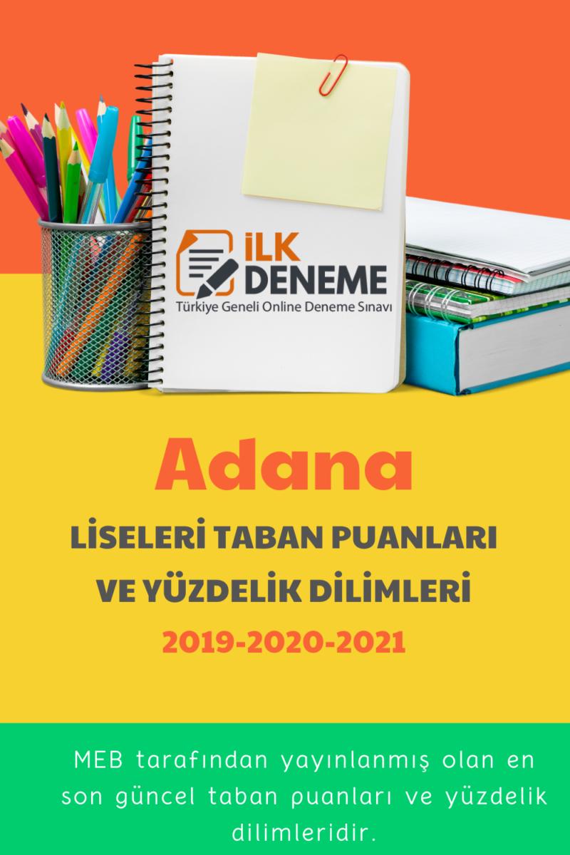 Adana liseleri taban puanları 2020 *2021 Adana Yüzdelik Dilimleri Meb*